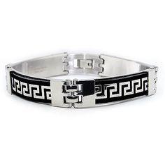 West Coast Jewelry Men's Greek Key Link Bracelet