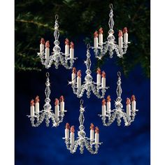 Holiday Beaded Ornament Kit-Christmas Chandeliers: these beaded ornaments are gorgeous! Make them and hang them on your tree with this gorgeous kit from The Beadery.