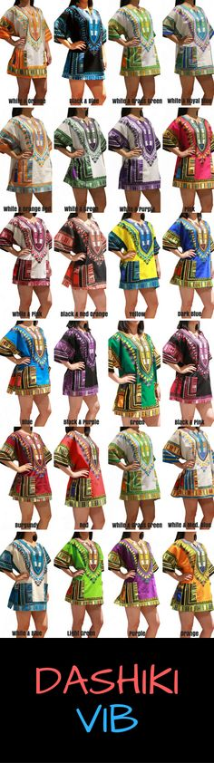 a17031b96 African Dashiki Shirt or Dress Unisex for Men/Women - High Quality Cotton  Dashiki.