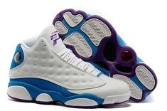 new product 1f940 941b5 How To Buy Air Jordan 13 Retro CP3 Home White Blue Purple 807504 107 Size  Euro