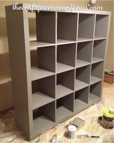 How to paint IKEA shelving. Can't wait to try this on my bookcases...this would probably work with Annie Sloan paints.