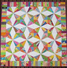 """Red Pepper Quilts: 2009 Finished Projects - I like this pattern """"Stashbuster"""" by Kathy Doughty from the book Material Obsession Two"""