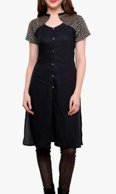 The Pattern of Kurti ! Salwar Neck Designs, New Kurti Designs, Kurta Designs Women, Dress Neck Designs, Blouse Designs, Chudidhar Designs, Casual Formal Dresses, Kurti Patterns, Daily Dress