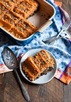 Vegan Sweet Potato and Lentil Shepherd's Pie | The Full Helping