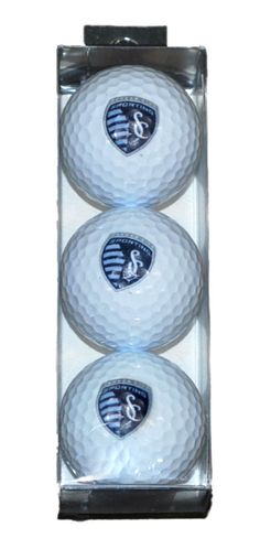 - Made and Designed by WinCraft. - Top Quality Golf Ball 3 Pack Sleeve. - Decorated with the Sporting Kansas City logo. - 100% Authentic. - Officially Licensed MLS Product