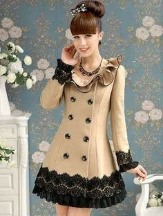 See the picz: Korean Fashion Mode Mantel, Cute Coats, Elegantes Outfit, Creation Couture, Vestidos Vintage, Mode Inspiration, Passion For Fashion, Korean Fashion, Dress Up