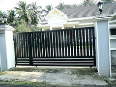 34 Ideas Steel Gate Design Idea Is Perfect For Your Home, There are several types of gates, including wooden gates, wrought gates and perhaps even bespoke steel gates, and that means you have a vast range to . New Gate Design, House Main Gates Design, Home Door Design, Front Gate Design, Steel Gate Design, Main Door Design, House Front Design, Entrance Design, Simple Gate Designs