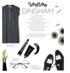 """GINGham//divine black"" by perfectlydeathly ❤ liked on Polyvore featuring Lacoste, David Jones, TokyoMilk and LSA International"