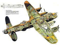 WAR DRAWING PLANE BOMBER AVRO LANCASTER CUTAWAY WWII UK ART PRINT POSTER BB7761B in Art, Posters, Contemporary (1980-Now) | eBay