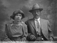 African American and Latina couple around 1900.