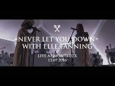 Woodkid feat. Elle Fanning - Never Let You Down - Live at Montreux 15.07...