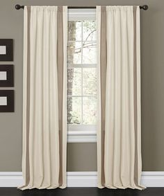 Take a look at this Beige Charming Sand Curtain Panel - Set of Two by Lush Décor on #zulily today!