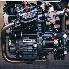 Habermann & Sons Classic Motorcycle Clothiers — overboldmotorco: Closeup. #honda #cx500...