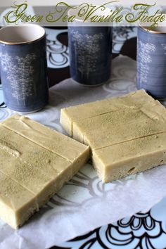 Gluten Free Vanilla Green Tea fudge