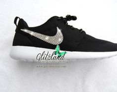 b938733a117f Swarovski Nike Black Roshe Run blinged with SWAROVSKI® Crystals Roshe Shoes