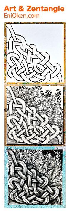 Knots and Toodles Zentangle®️ art • enioken.com