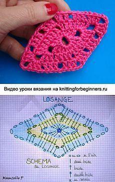 Transcendent Crochet a Solid Granny Square Ideas. Inconceivable Crochet a Solid Granny Square Ideas. Crochet Stitches Chart, Crochet Motifs, Crochet Quilt, Crochet Blocks, Granny Square Crochet Pattern, Crochet Diagram, Crochet Squares, Knit Crochet, Crochet Patterns