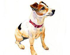 Aangepaste huisdier portret - originele Art - 11x14inches-aquarel schilderij - kunst - honden