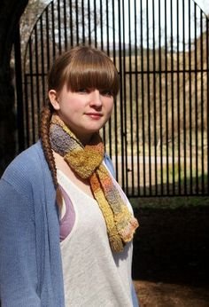 Multi-coloured Naturally Dyed, Hand Spun Scarf £45.00