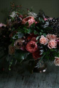 arrangement by Floret Flower Farm flowers and bouquets Dark Flowers, Beautiful Flowers, Floral Photography, Flower Farm, Belle Photo, Flower Designs, Floral Arrangements, Flower Arrangement, Planting Flowers