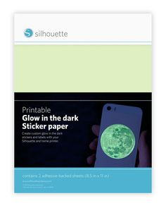 Silhouette America - Printable Glow-in-the-Dark Sticker Paper