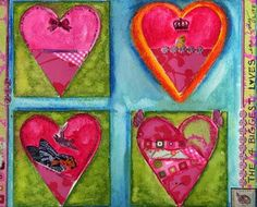 Heart Art Journaling Ideas