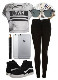"""""""UNTOLD Festival 2016 Outfit #2"""" by feel-my-freedom ❤ liked on Polyvore featuring Chronicle Books, Religion Clothing, Topshop, Vans, Noir Cosmetics and Ray-Ban"""