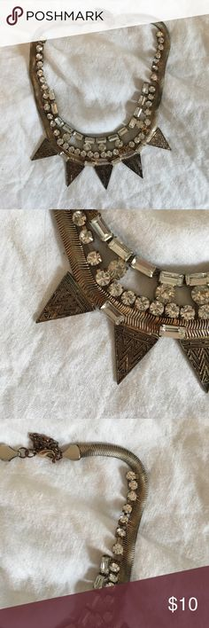 Urban Outfitters Statement Necklace High collared metal statement necklace from Urban Outfitters! Urban Outfitters Jewelry Necklaces