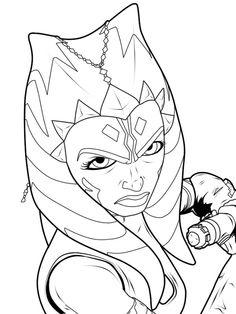chibi star wars coloring pages ashoka