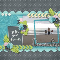Dream Big - digital Scrapbook layout    credits:  Reach For The Stars iNSD Grab Bag by Luv Ewe Designs  All Fall Down Template by Dear Friends Designs  at Gingerscraps    http://store.gingerscraps.net/Reach-For-The-Stars-Grab-Bag.html