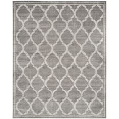 Amherst Gray/Light Gray 8 ft. x 10 ft. Indoor/Outdoor Rectangle Area Rug