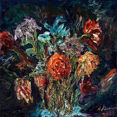 Modern Impressionist Flowers
