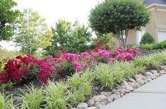 Delinear a calçada da entrada com suas flores favoritas