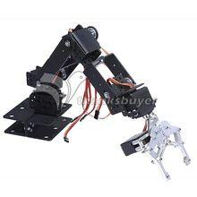 6 grados brazo mecánico parte sin cuernos servo mecánico de la mano del Robot plataforma de enseñanza multiángulo mecánico brazo robótico(China (Mainland))
