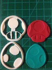 Yoshi  Egg & Mario Mushroom Cookie Cutters
