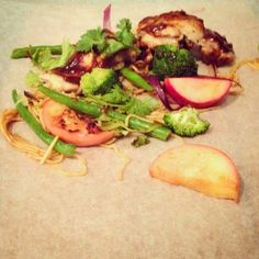 Mine matskriblerier: Kylling og nudler med hoisinsaus
