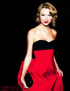 "Taylor Swift wearing Carolina Herrera at the ""Golden Globe Awards"" jan 12th 2014......"
