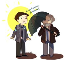 Detroit become human Connor and Hank By: promiset