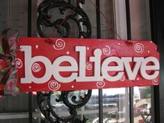 Believe Christmas Rustic Country Chic Sign by TallahatchieDesigns, $22.00