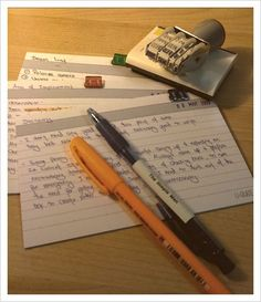 Before taking a test, write down all the relevant information you can think of on an index card, as though it were a piece of paper you were allowed to bring with you. | 17 Unexpected Studying Hacks