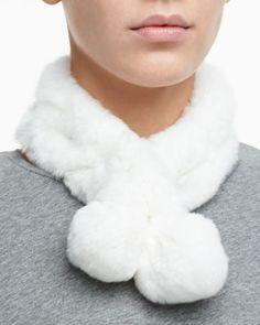 Rabbit Fur Neck Warmer by Belle Fare