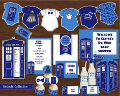 Dr Who Baby Shower DIY Printable Kit - INSTANT DOWNLOAD - $19.50AUD  #drwho #drwhobabyshower
