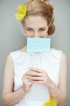Wedding Chevron Styled Shoot / Stationery Karina Gold