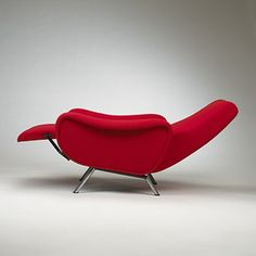 Marco Zanuso; Reclining 'Lady' Chair Prototype for Arflex, 1951.