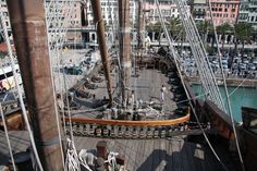Image of the open deck space on the Neptune. Good ideas here for size of the pirate ship that I will build inside my museum. Nautical Craft, Roof Top, Tall Ships, Business Ideas, Sailing Ships, Deck, Museum, Boat, Building