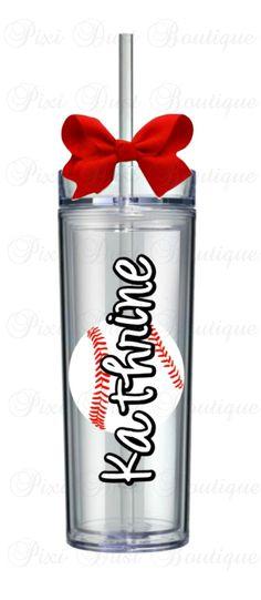 Baseball Baseball gifts Baseball Tumbler by Pixidustboutique