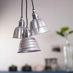 Vintage Jelly Mould Pendant Lights - bedroom