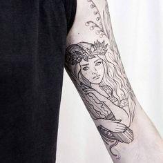 Slavic sleeve stage 2 #tattoo #blacktattoo #blacktattooart #linework #slavs #outline #inked