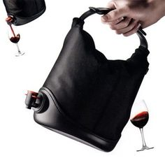For seriously classy drinkers....the wine purse :)