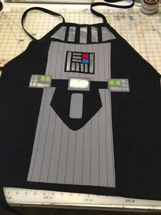 Darth Vader apron made from the free pattern at So Sew Easy by LISA - thanks Lisa.